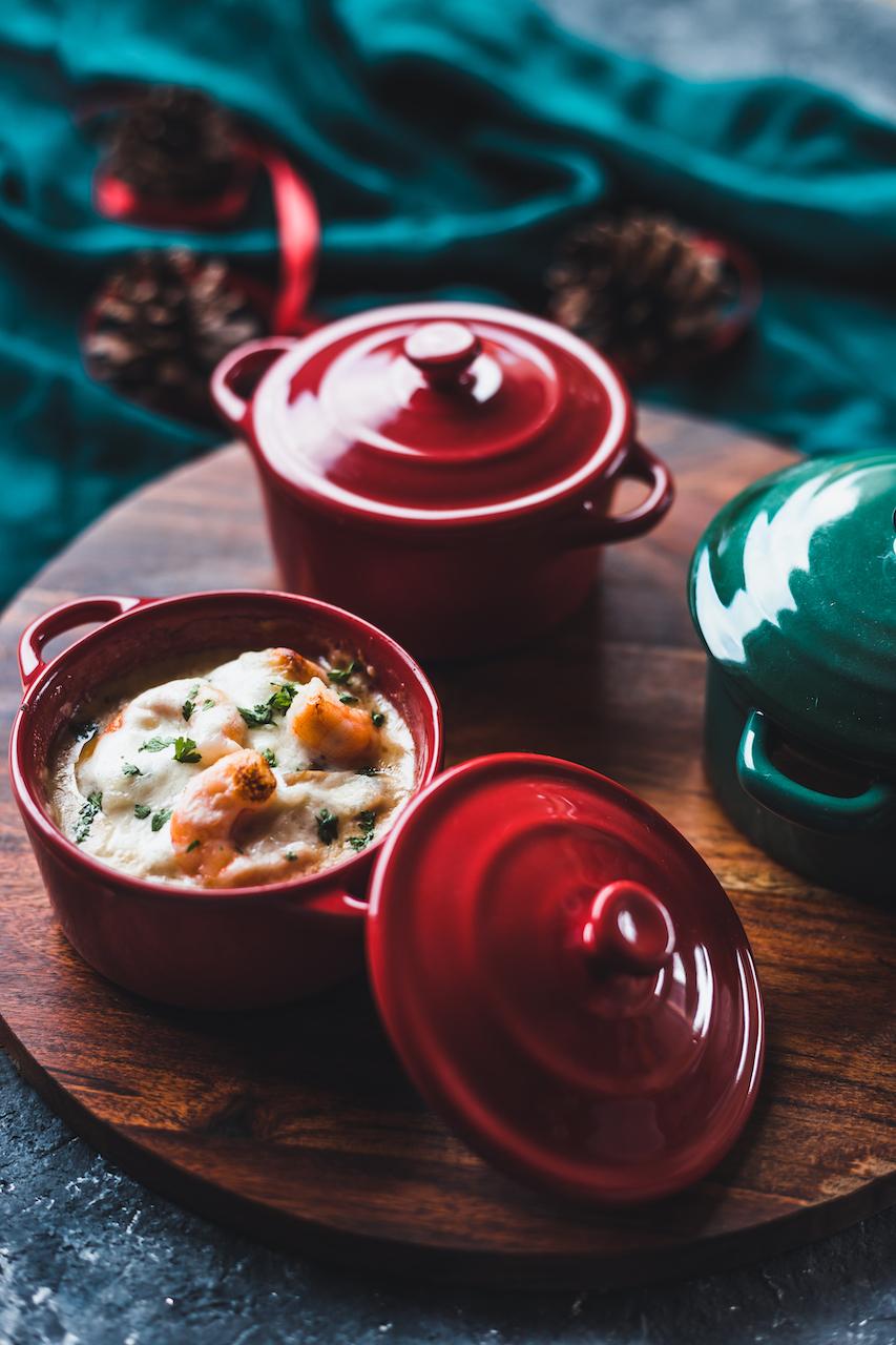 cassolette-saint sacque-crevette-crustaces-menu de fetes