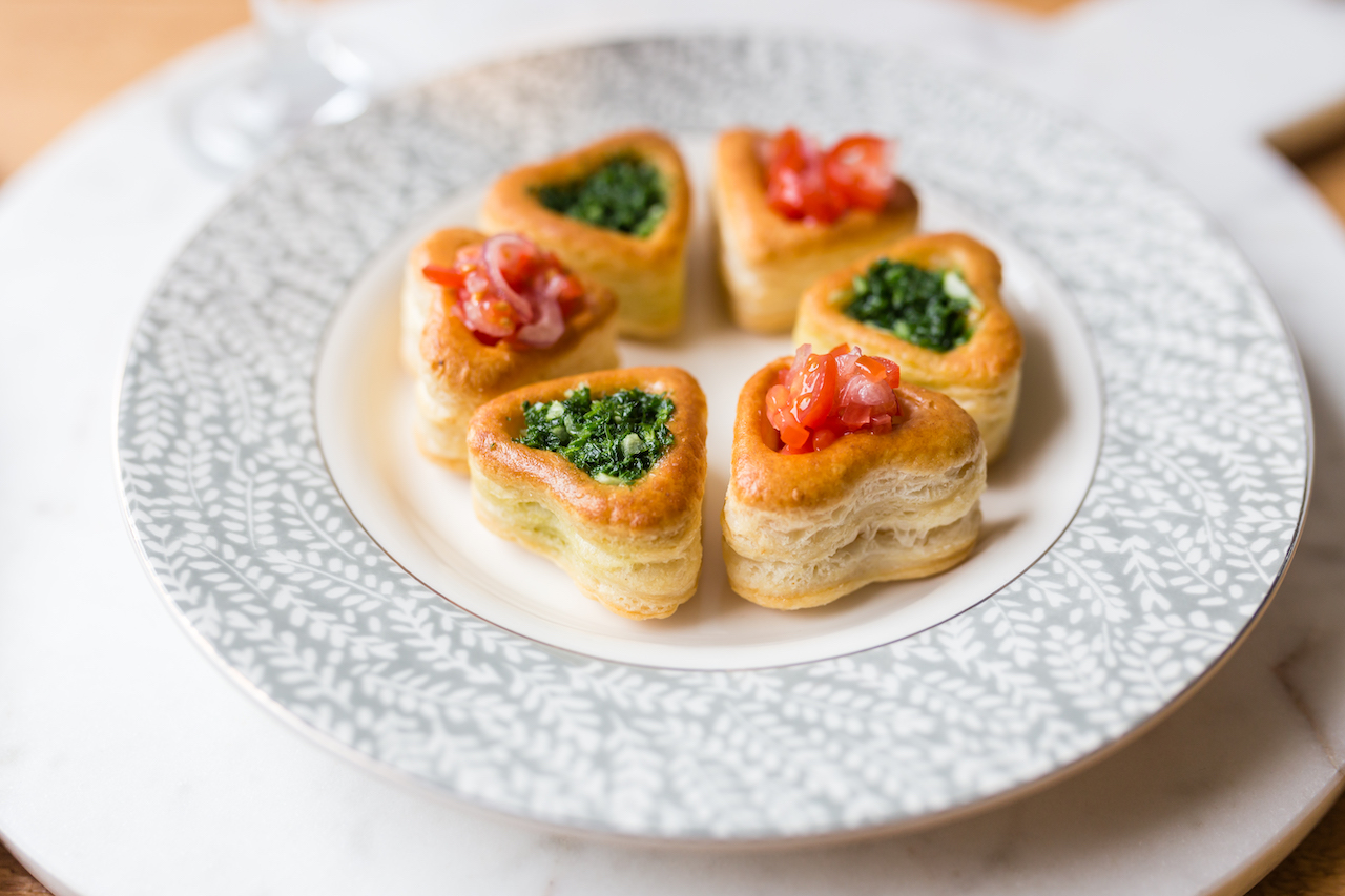 repas saint valentin-feuilletes-coeur-entree